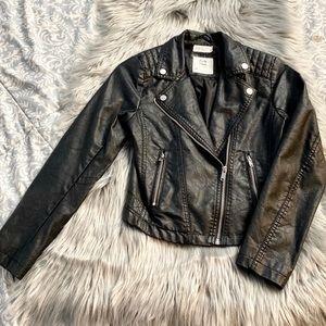 H&M Faux Leather Black Jacket